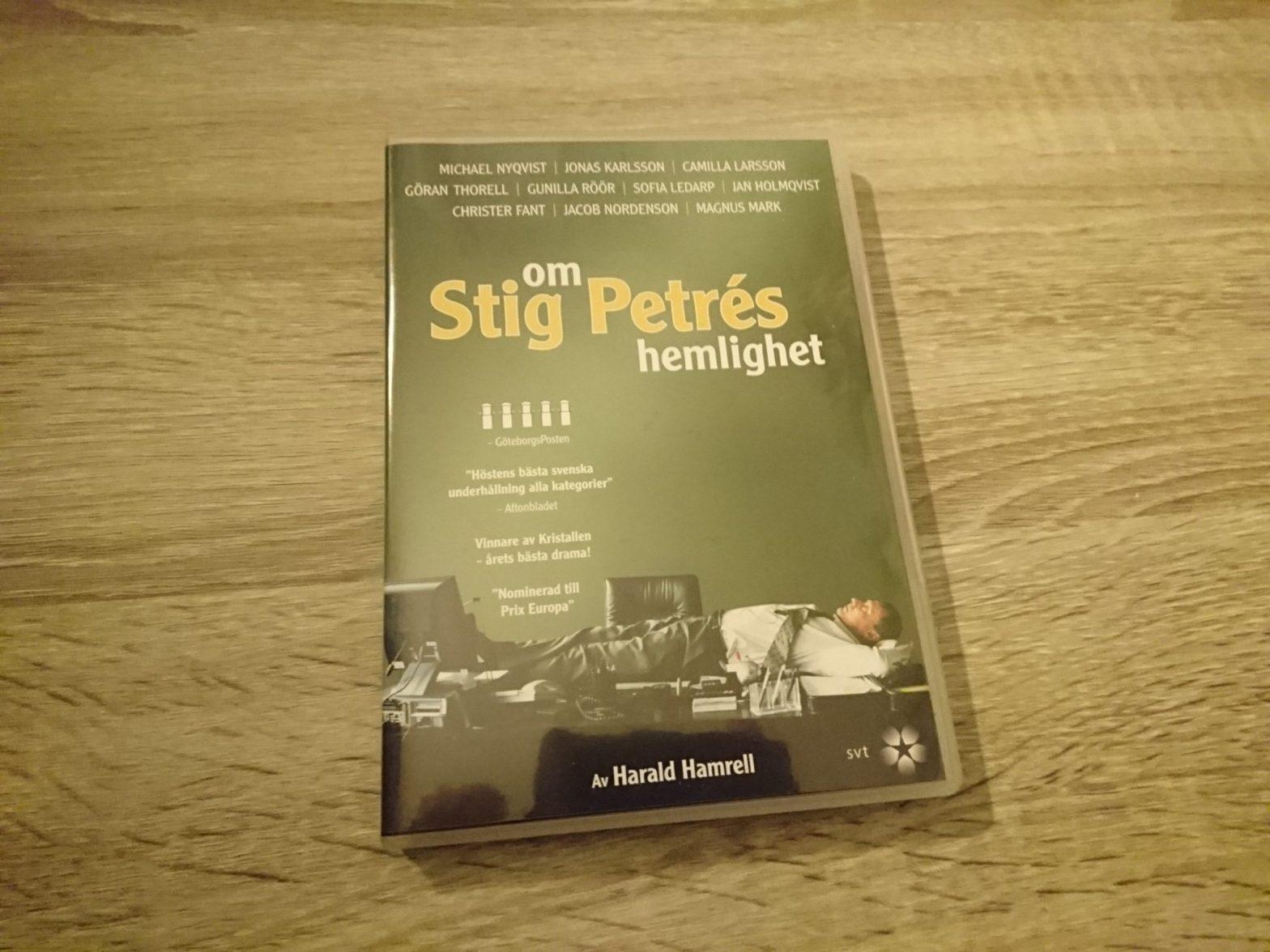Om Stig Petrés hemlighet (dvd-omslag)