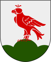 Falkenberg vapen: Av Marmelad - Made by Marmelad after the blasoning..Falcon: From Image:Wappen Falkau.pngKällkoden till denna SVG är giltig.Den här vektorbilden skapades med Inkscape och redigerades sedan manuellt., CC BY-SA 2.5, https://commons.wikimedia.org/w/index.php?curid=2906525