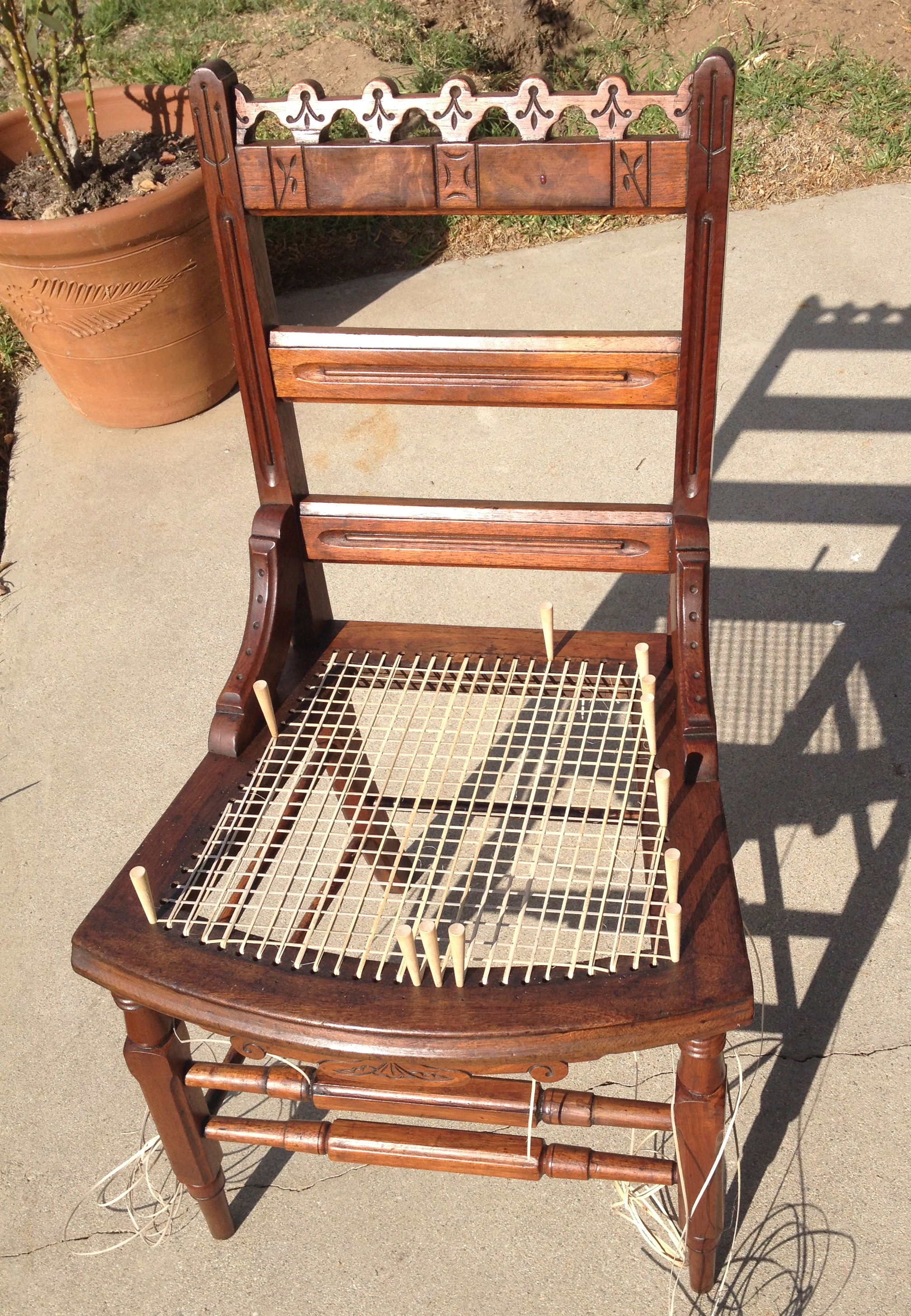 how to cane a chair bar slipcovers seat weaving  hand caning an 1880s cottage