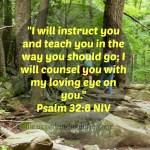 Psalm 32:8 NIV