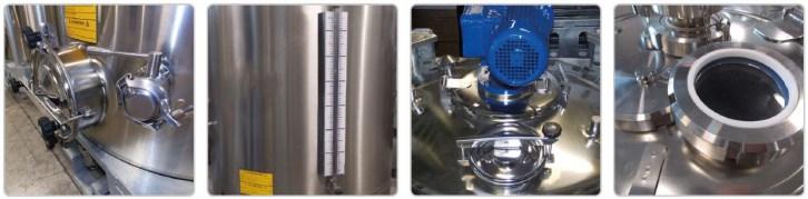 Options : niveau liquide en verre - melangeur
