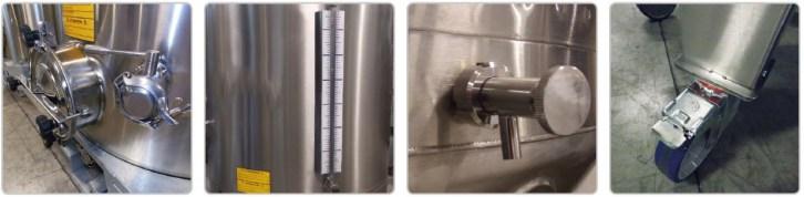 Options : niveau liquide en verre - robint de prelevement