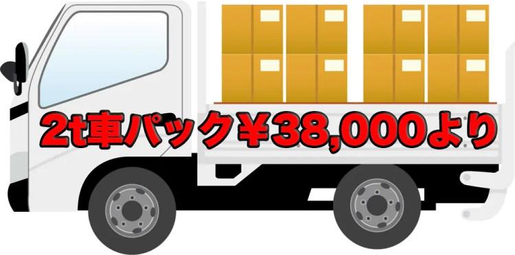 愛媛県松山市の不用品回収・不用品処分のリセットサービスの2t車パックバナー