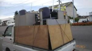 事務所の撤去に伴う不用品回収(ロッカー、棚等)