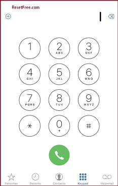 Open Dial pad on your Mobile option