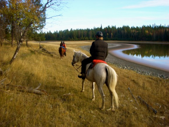 Horseback riding in the Cariboo