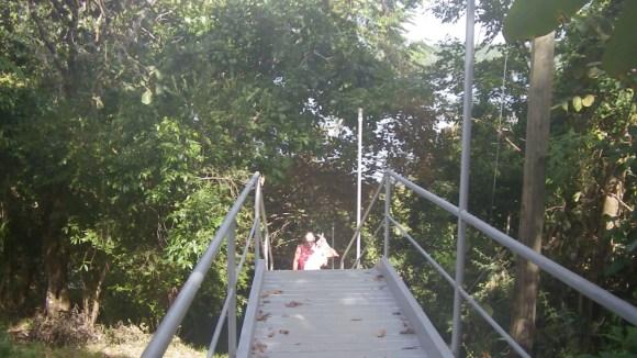 Glenn on stairs