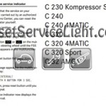 Reset service light indicator Mercedes C180