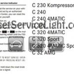 Reset oil service light Mercedes C Class