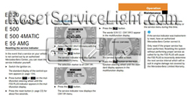 Reset service light indicator Mercedes E500
