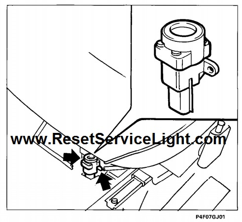 Reset the circuit inertia safety switch Fiat Marea