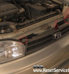 after you do it you will gain better access to the headlight assembly now you can remove the screw holding the side marker light assembly marked with the  [ 1307 x 895 Pixel ]