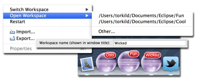 Opening multiple Eclipse instances on OS X (the easy way