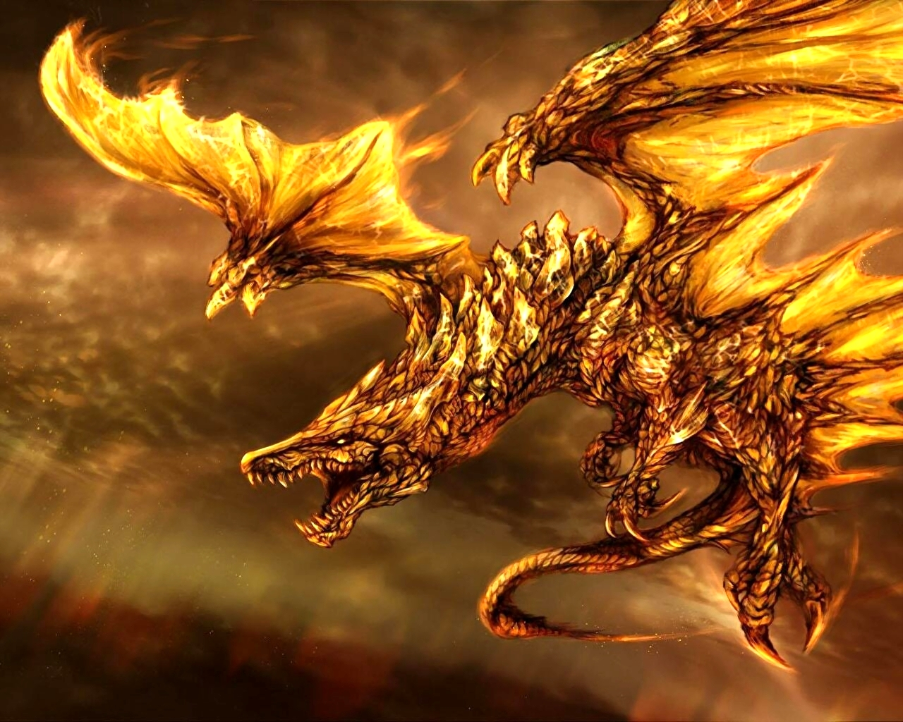 Fire Dragon Wallpaper 1920×1080