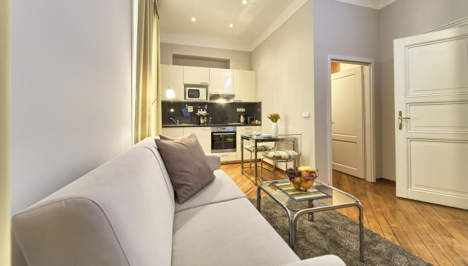 Living Room In A Studio Apartment Type 2 Residence Masna