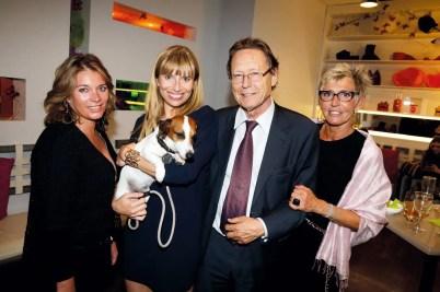 T. Rosay (Les Demoiselles de la Presse), C. Morise (Esthederm), M. Comboul (Président de RD et H&L) et A. de Rose (H&L).
