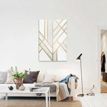 Salon-scandinave-Tableau-Art-deco-Geometry-de-Elisabeth-Fredriksson