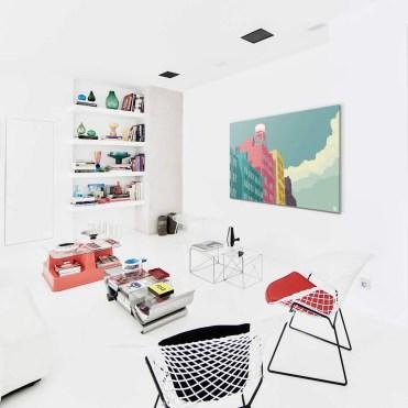 Salon-scandinave-Tableau-East-10th-Street-NYC-de-Remko-Heemskerk
