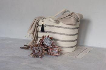 Well-Nest_panier à linge en corde coton bio