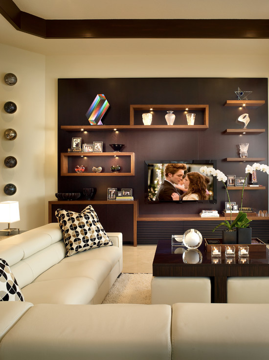 Watch modern living rooms from hgtv contemporary purple living room makeover 03:55 contemporary purple living room makeover 03:55 meg caswell helps a young couple remodel their living room into a contemporary space that includes a game area. 80 Ideas For Contemporary Living Room Designs
