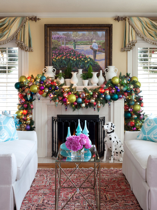 pictures of living room decorated for christmas mirrors rooms decorations ideas decor