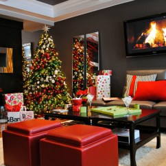 Pictures Of Living Room Decorated For Christmas How To Furnish A Long Skinny Decorations Ideas House Decoration