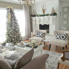 Decorate Small Living Room For Christmas Big Wall Clock Decorations Ideas Pictures