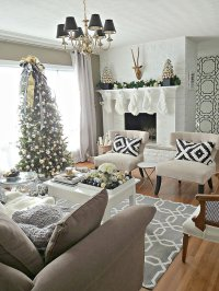 Christmas Living Room Decorations Ideas & Pictures