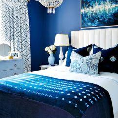 Vintage Peacock Chair Desk Leather Navy & Dark Blue Bedroom Design Ideas Pictures