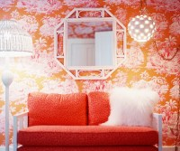 Pink And Orange Living Room Design Ideas & Pictures