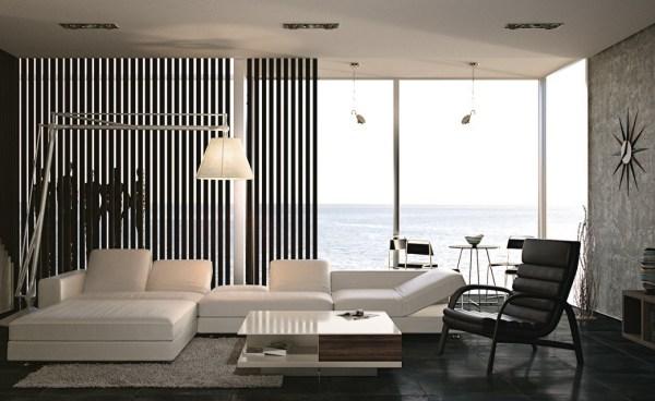 black and white living room interior design Black And White Living Room Interior Design Ideas