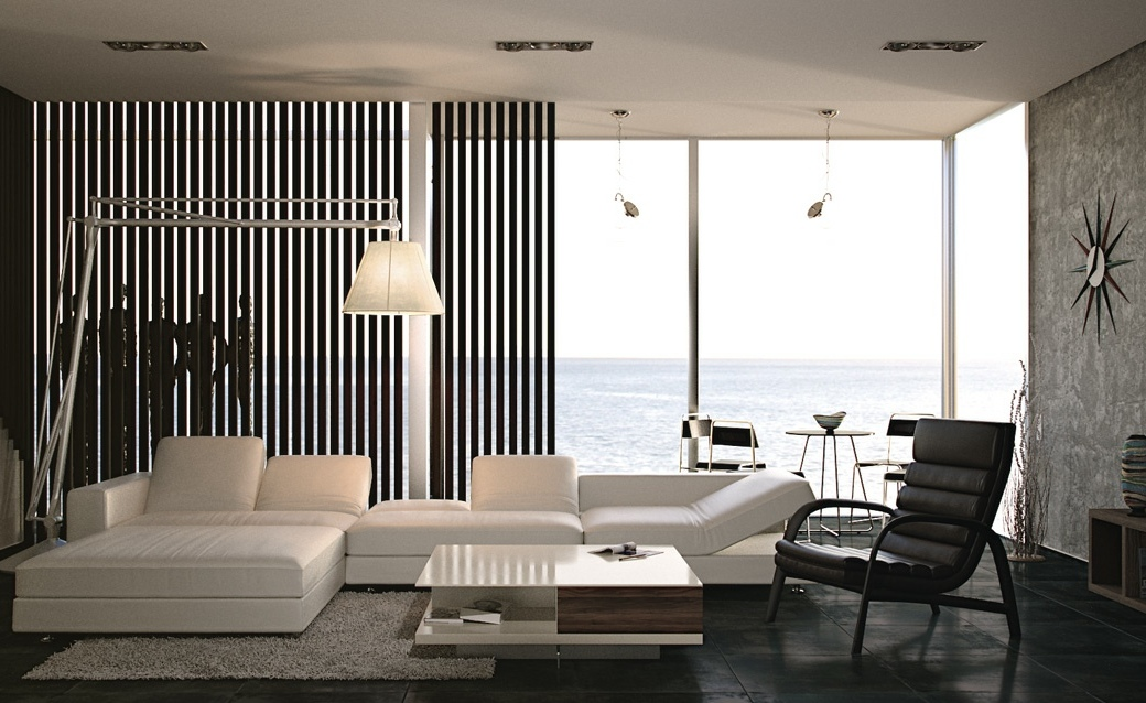 Black And White Living Room Interior Design Ideas Part 77