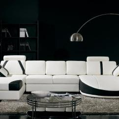 Black And White Themed Living Room Ideas Gold Accents Interior Design Idea Sectional Sofa Set