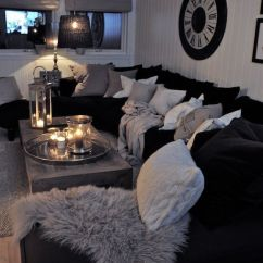 Decorate Living Room With Black Sofa Images Of Decorated Rooms And White Interior Design Ideas