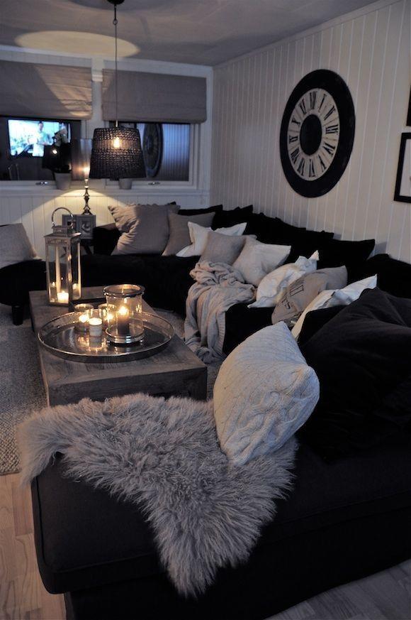living room ideas grey and black sofa color schemes white interior design