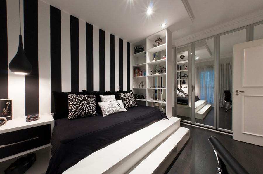C Taupe And White Bedroom With Gold Accents. Bedroom Decor With Black ...