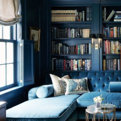 How To Deep Clean White Leather Sofa Red Sleeper 15 Beautiful Dark Blue Wall Design Ideas