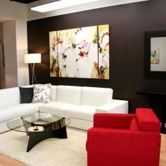 Simple Living Room Interior Design Ideas Small Inspiration White Sofa Pictures For Extraordinary Best Contemporary With Abstract Painting Plus Mirror In Gray Colors Wall