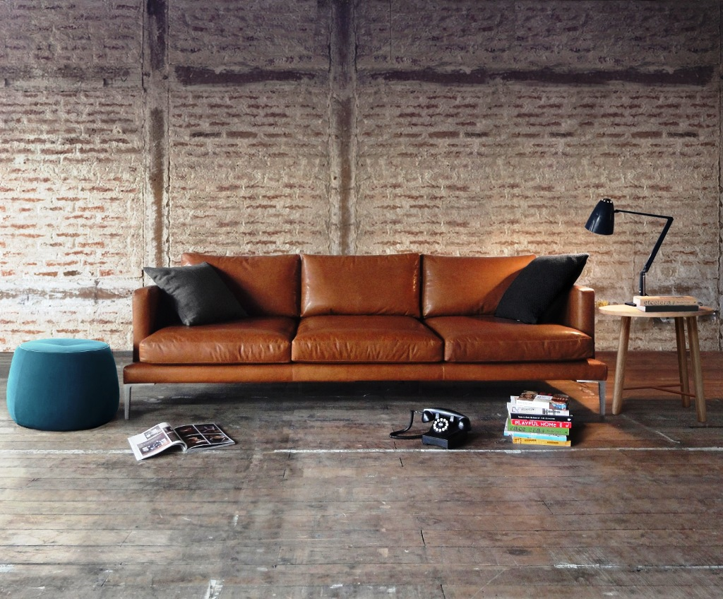 decorate with brown leather sofa use just chill & be relax on luxury