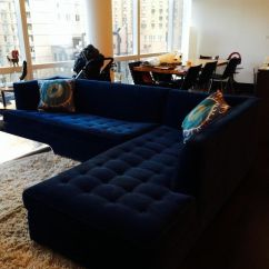Navy Blue Velvet Sofa Air Best Quality 21 Different Style To Decorate Home With Mitchell Gold Design