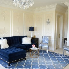 Navy Blue Couches Living Room Paint Color Ideas For With Dark Furniture 21 Different Style To Decorate Home Velvet Sofa