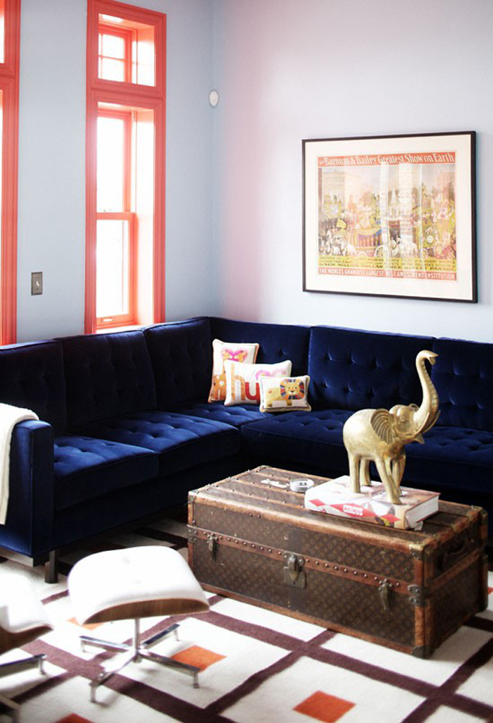 navy blue velvet sofa phoenix large recliner chocolate 21 different style to decorate home with elephant on trunk