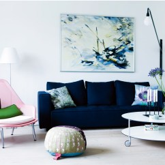 Dark Blue Sofa Living Room Colour Ideas 2018 21 Different Style To Decorate Home With Velvet Light Pink Modern Chair Coffee Table Casters Wheels