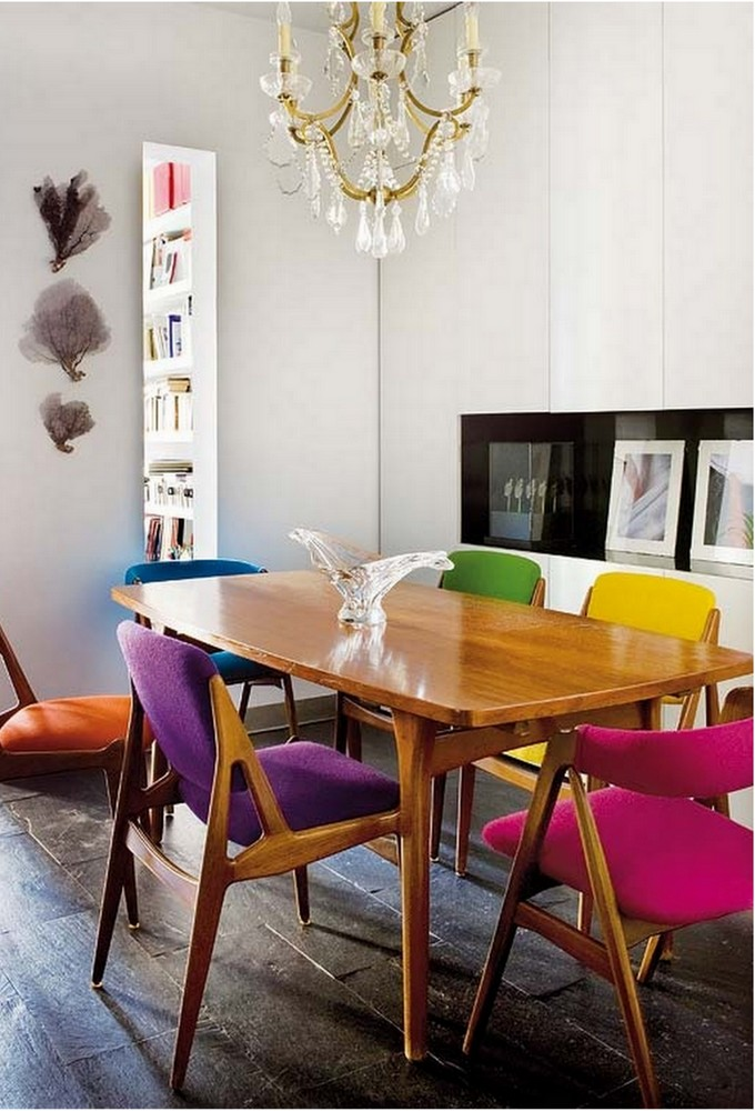 colorful kitchen table dining set 20 mix and match chairs design ideas ecelectic