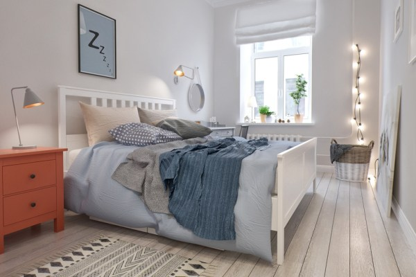 swedish interior design bedroom Scandinavian Style Two-Bedroom Apartment By INT2 Architecture