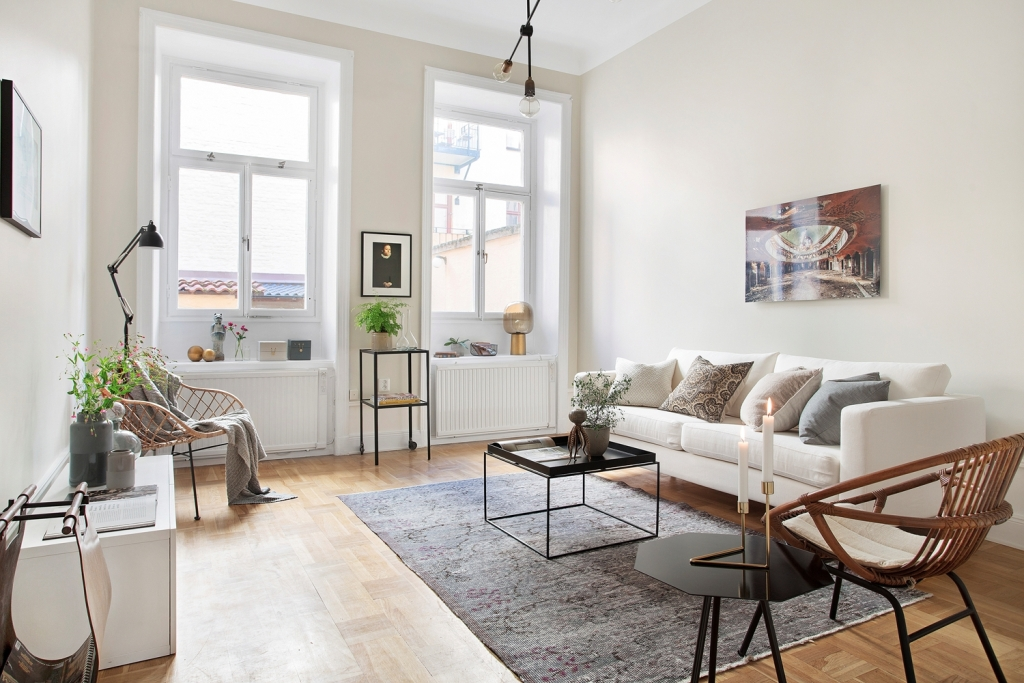 scandinavian living room design color paint schemes creative home interior combined with plants decor