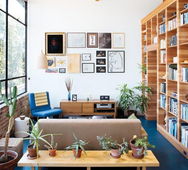 Wooden Cabin Storage Renovation In Living Room