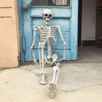 Skeleton Door Decoration & OLD Vintage GERMANY Halloween