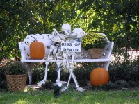 Indoor & Outdoor Halloween Skeleton Decorations Ideas