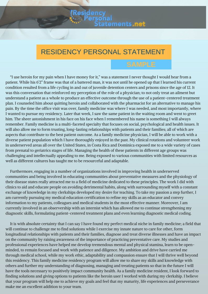 Dental Residency Personal Statement Help Writing Service